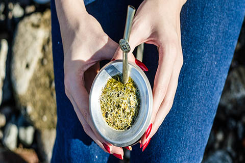 A stock photo of Argentinian yerba mate.