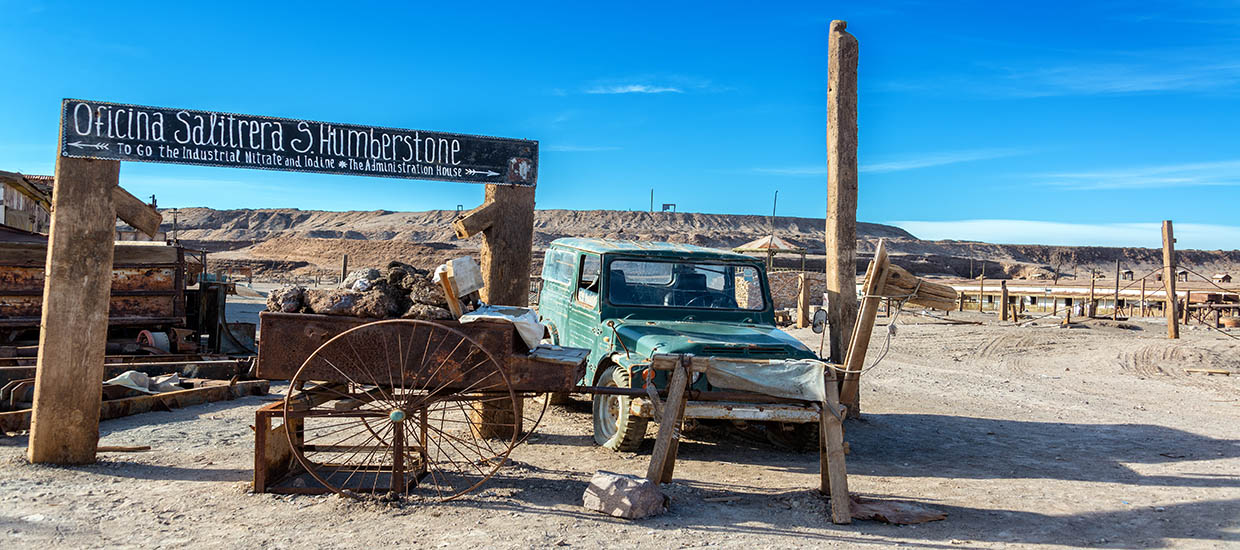 A stock photo of Humberstone, Chile.