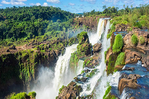 A stock photo of Iguazu Falls in South America.